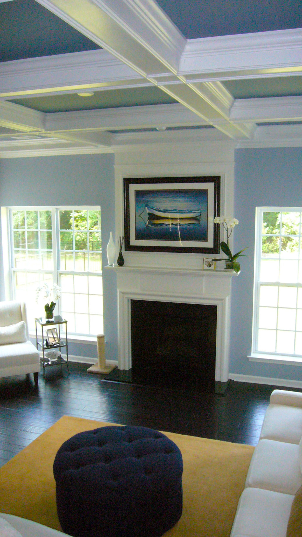 Living Room Walls Painted Blue