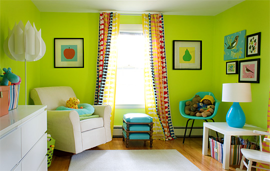 Lime Green Wall Color 540 x 342