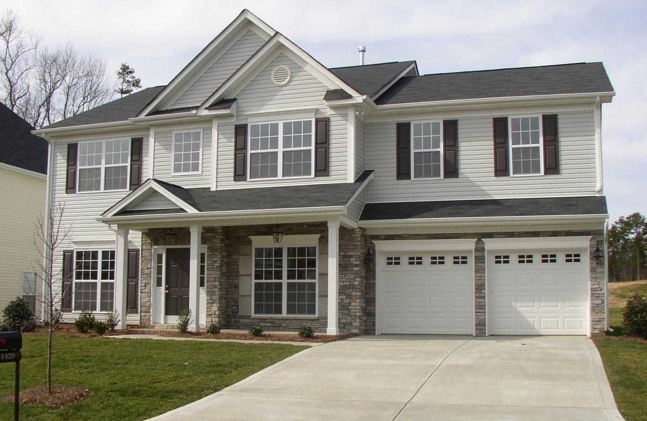 Fabulous Color Scheme Light Gray Siding White Garage Doors And Trim Gray Largest Home Design Picture Inspirations Pitcheantrous