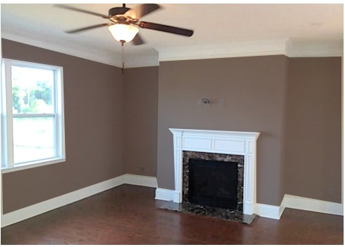 What color should i paint my living room decorating by for Brown colors for walls