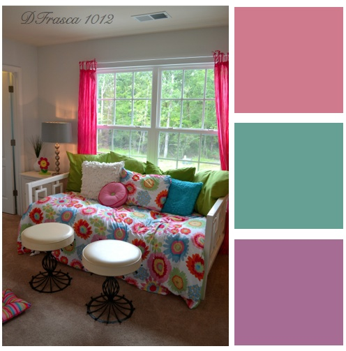 color blocking bedroom colors for girls. Interior Design Ideas. Home Design Ideas