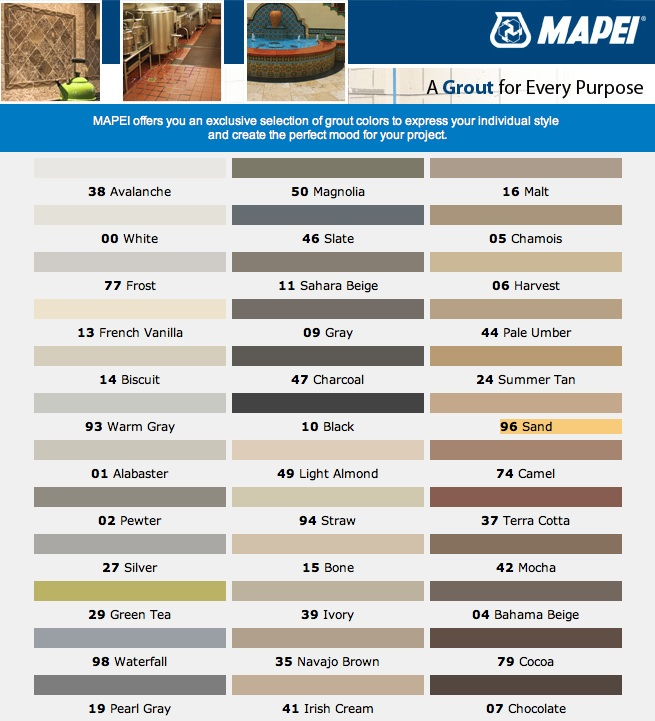 Grout Color Chart Frodofullring