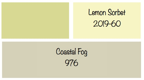 Lemon sorbet and gray cheers to beautiful color for Benjamin moore color of the year 2013
