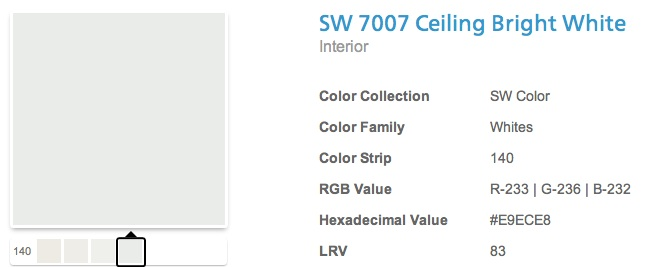 What color should i paint my ceiling part ii decorating for Sherwin williams ceiling paint colors