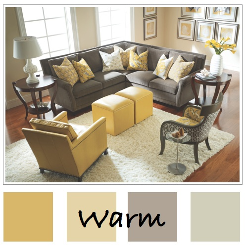 3 great color palettes for the waltonwood senior living for Warm grey living room ideas