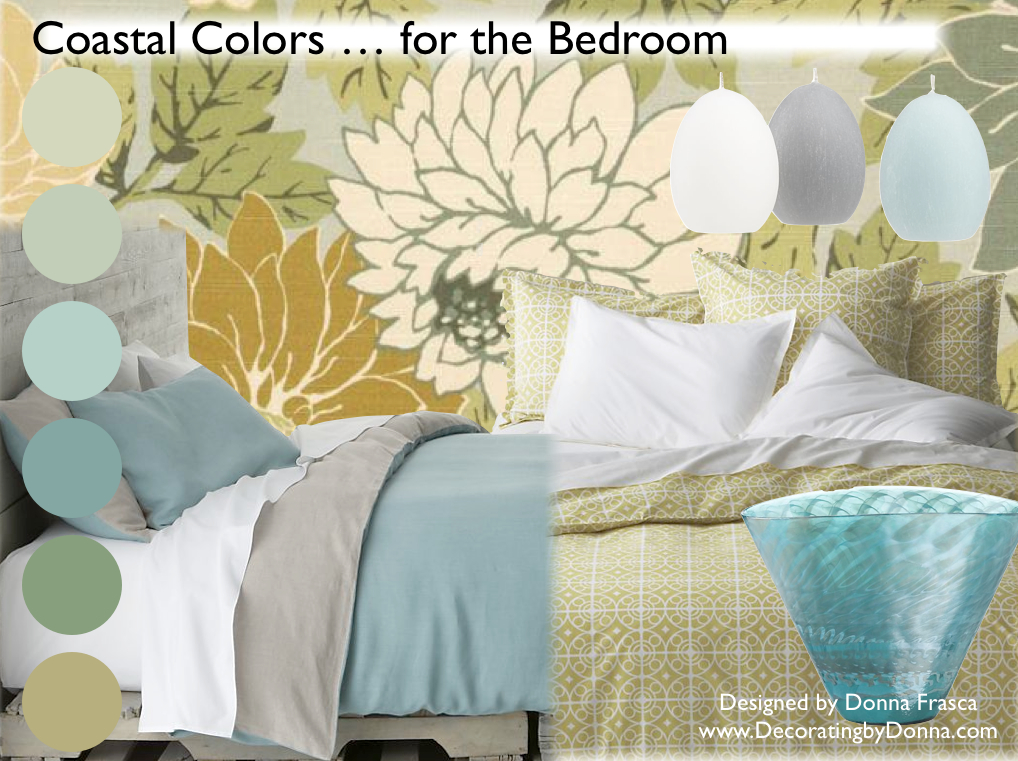 coastal color for your bedroom decorating by donna
