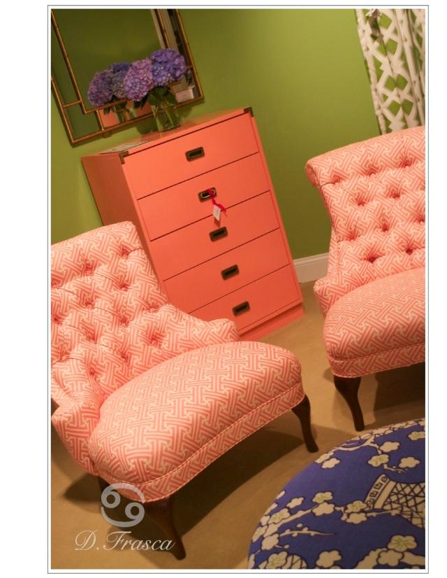 crlaine coral chair