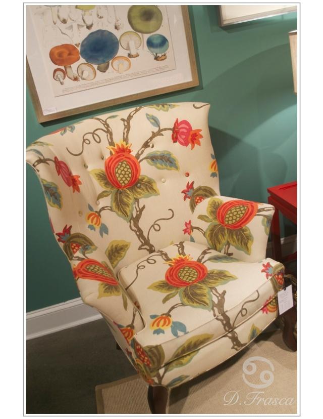 crlaine floral chair