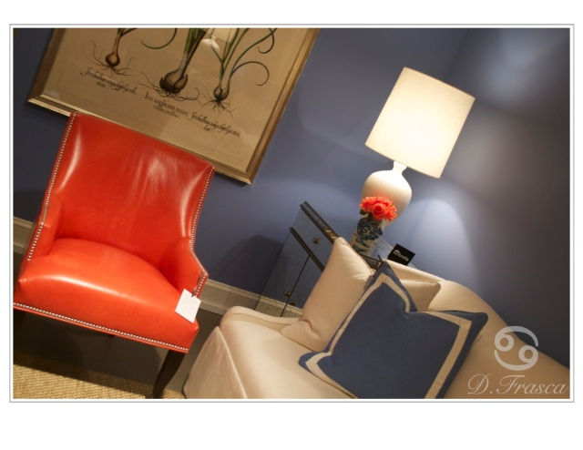 crlaine orange chair