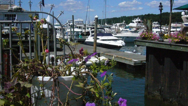 port_jefferson_water_harbor_color_donna_fracsa