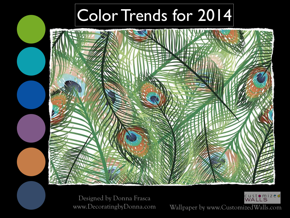 Will peacocks fly into home furnishings for 2014 Home design trends 2014