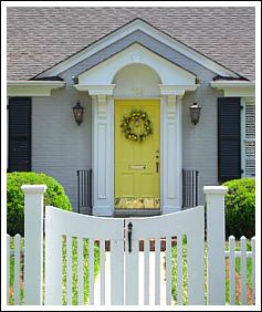 How to choose color for your front door decorating by for Cottage style front doors