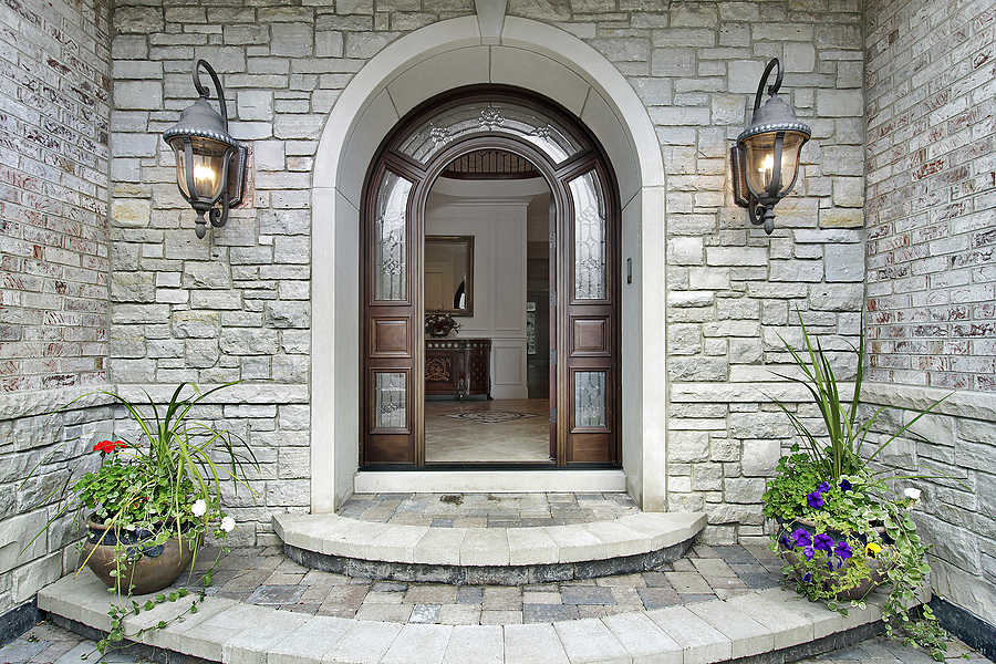 Stone Front Homes how to choose color for your front door | decoratingdonna