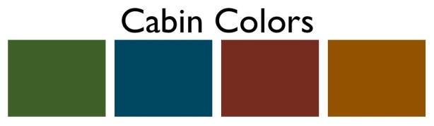 cabin colors ideas