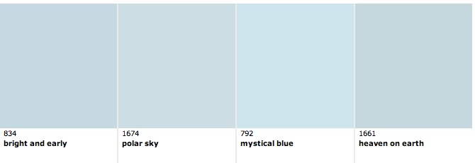 Benjamin moore light blue 25 best ideas about benjamin for Pale perfection paint