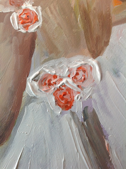 rose_detail_the_bride_donna_frasca_acrylic_painting