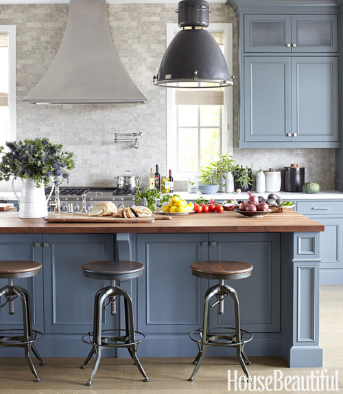 Thinking I Want To Paint Our Cabinets This Shade Of Blue: Do We Really Need Red In The Morning?