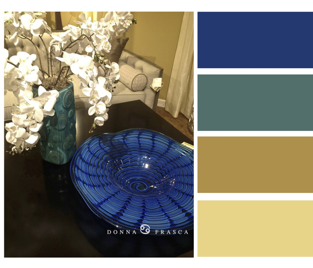 Blue Teal And Gold Color Palette Decorating By Donna Intuitive