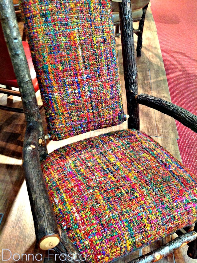 mulit colored chair