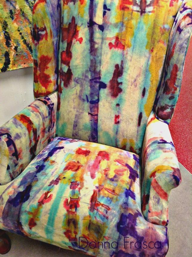 tie dye chair