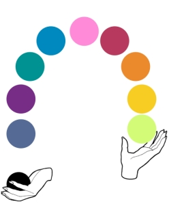 juggling color