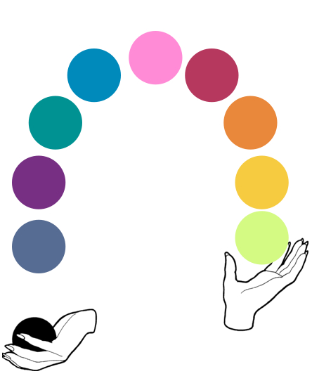 juggling color