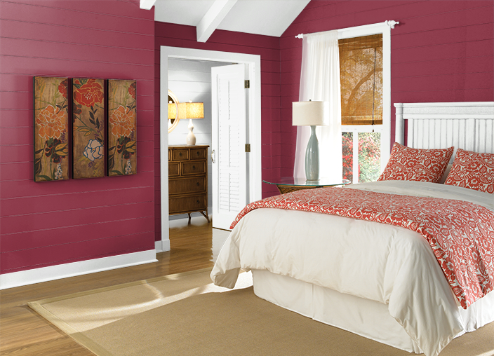 change the mood and energy of your bedroom with color decorating by