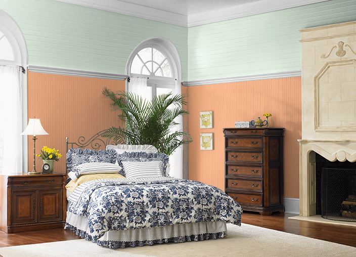 change the mood and energy of your bedroom with color