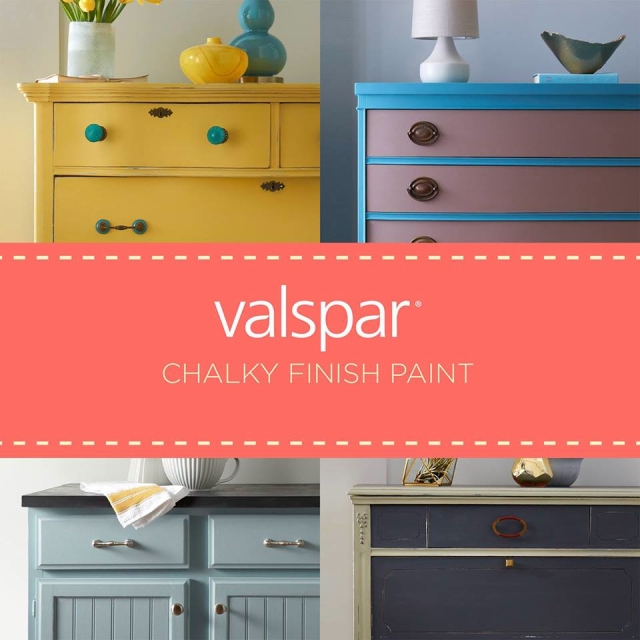 Chalk Finish Paint By Valspar It Out Decorating By Donna Color Expert