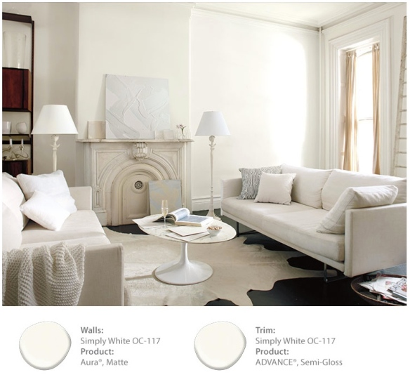 Benjamin Moore S Color Of The Year Simply White Is Simply Boring Decorating By Donna Intuitive Color Expert