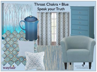 decorating with the colors of the throat chakra