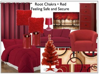 Decorating with red and the root chakra