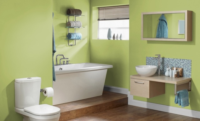 a fun sherwin williams green for your bathroom