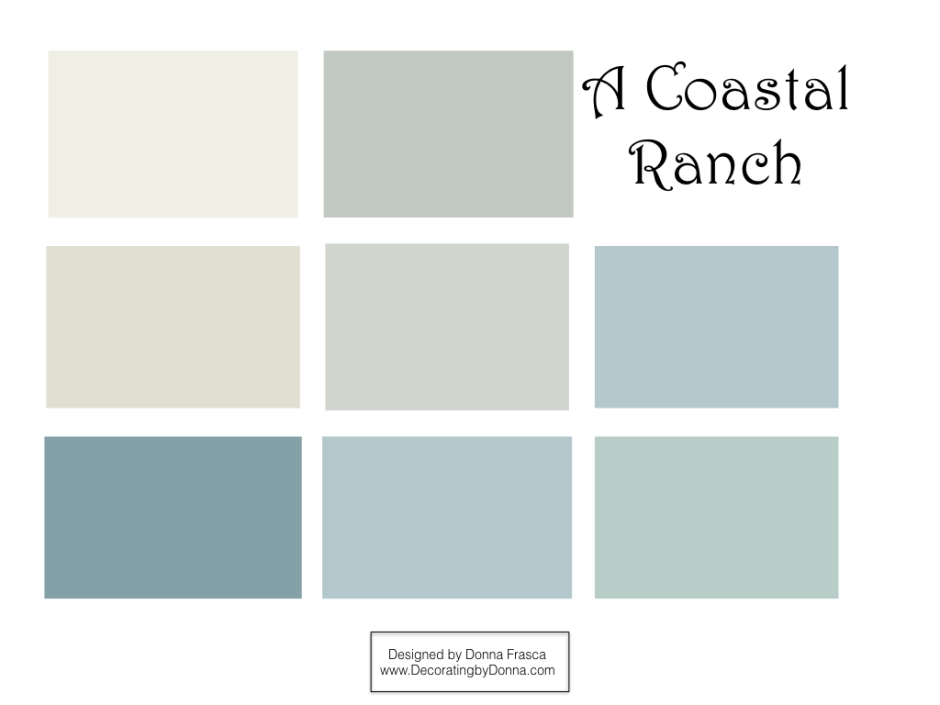 the best coastal colors for a ranch