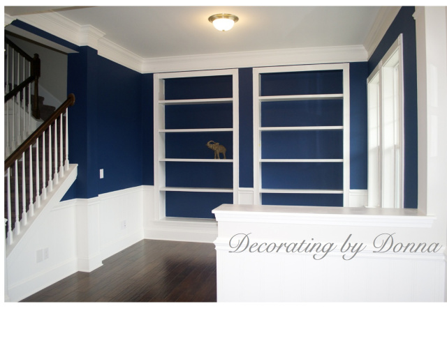 indigo blue for the dining room