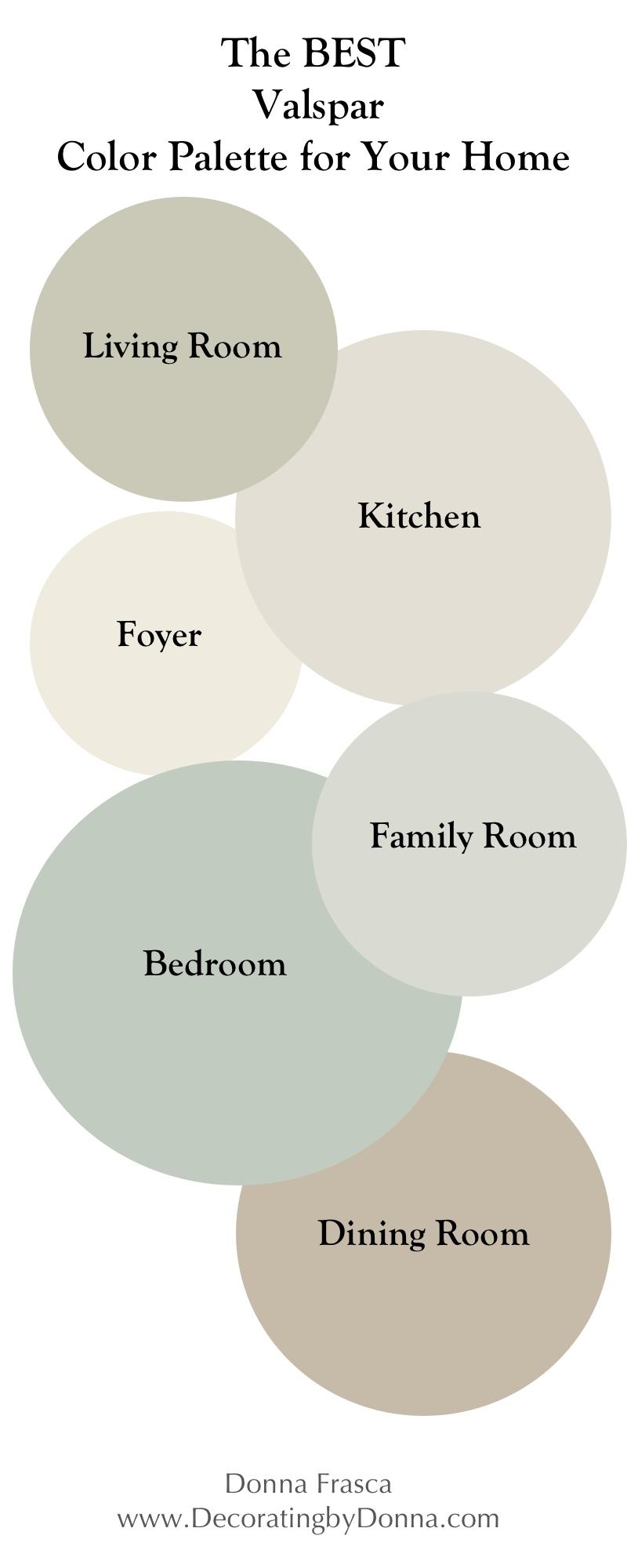 The Best Valspar Color Palette For Your Home Decorating By Donna Color Expert