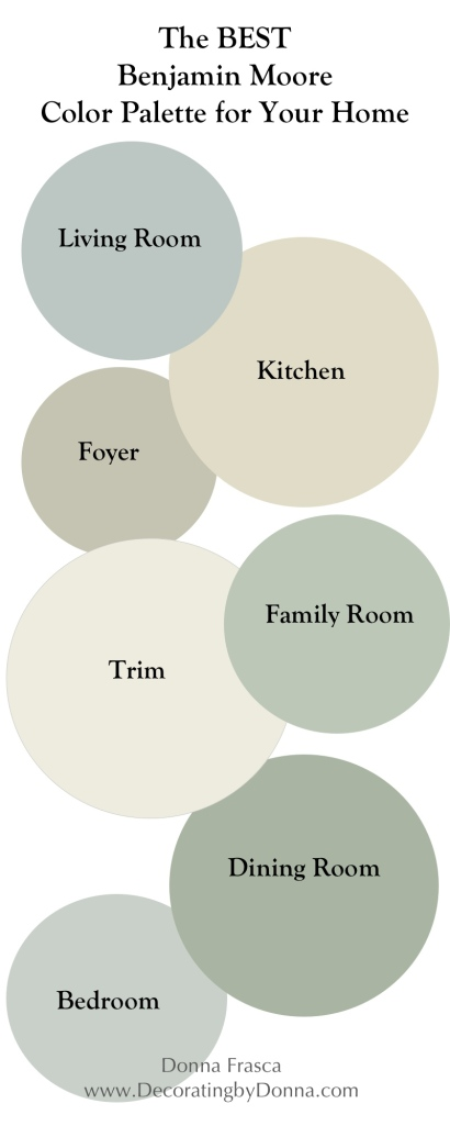 the best Benjamin Moore Coastal Color palette for your home updated
