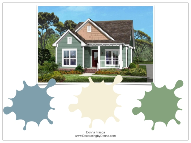 Virtual Exterior Color Palettes Just $125 | Decorating by Donna ...