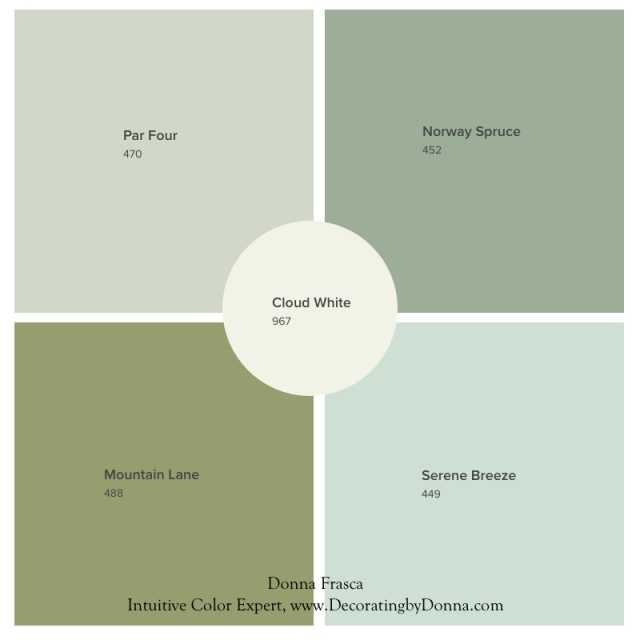 Cloud white by Benjamin Moore is a great color choice for trim