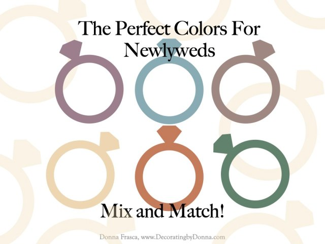 The Perfect Colors For Newlyweds