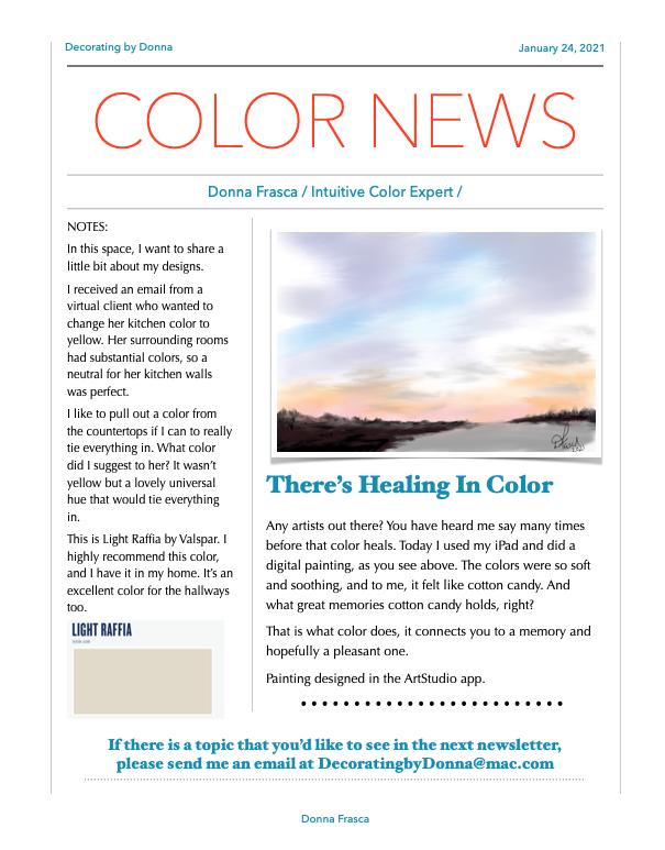 Color News Color expert Donna Frasca